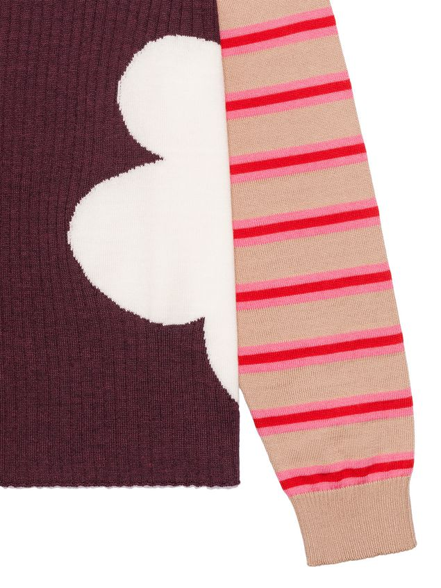 Marni WOOL SWEATER WITH CONTRAST SLEEVES Woman - 4