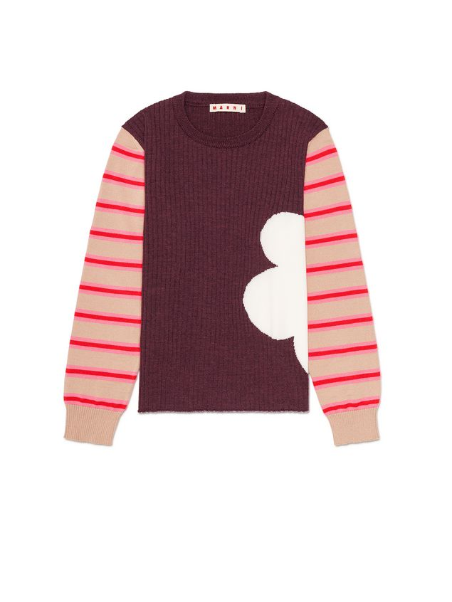 Marni WOOL SWEATER WITH CONTRAST SLEEVES Woman - 1