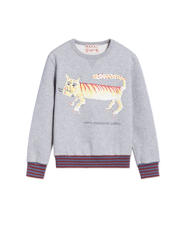 Marni COTTON SWEATSHIRT WITH MARIA MAGDALENA SUAREZ DESIGN  Man - 1