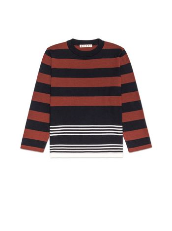 Marni STRIPED WOOL SWEATER Man