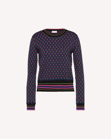 REDValentino QR0KC09I46G 0NO Knit Sweater Woman a