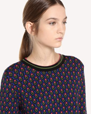 REDValentino QR0KC09I46G 0NO Knit Sweater Woman e