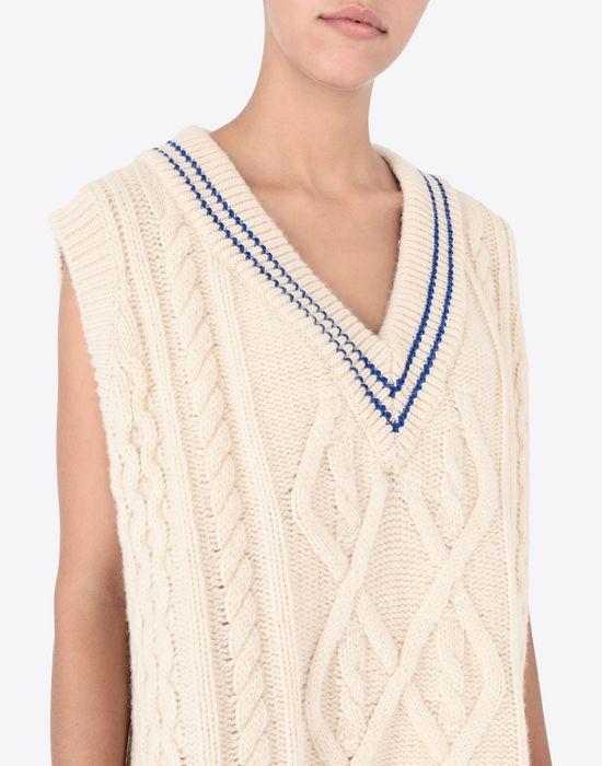 MAISON MARGIELA Oversized cricket sweater V-neck [*** pickupInStoreShipping_info ***] a