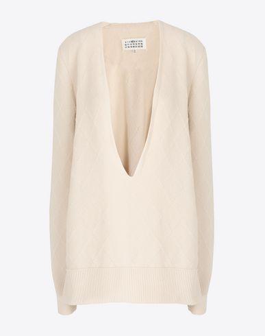 MAISON MARGIELA V-neck [*** pickupInStoreShipping_info ***] Deep-V cashmere pullover f