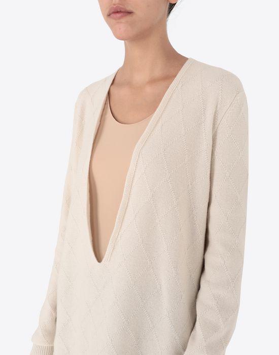 MAISON MARGIELA Deep-V cashmere pullover V-neck [*** pickupInStoreShipping_info ***] a