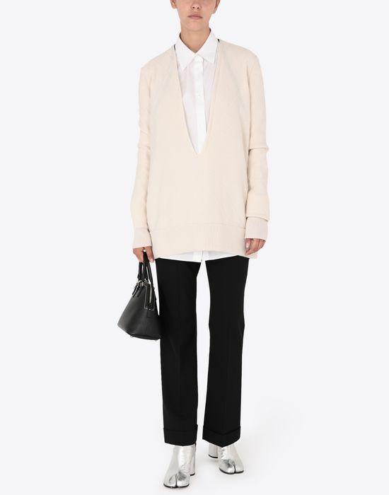 MAISON MARGIELA Deep-V cashmere pullover V-neck [*** pickupInStoreShipping_info ***] d