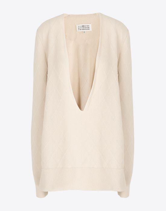 MAISON MARGIELA Deep-V cashmere pullover V-neck [*** pickupInStoreShipping_info ***] f