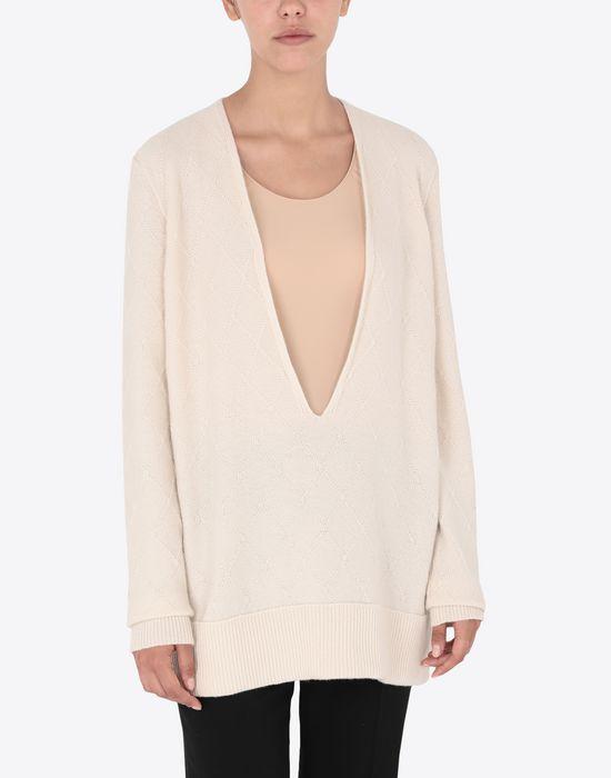 MAISON MARGIELA Deep-V cashmere pullover V-neck [*** pickupInStoreShipping_info ***] r