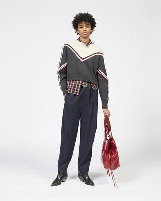 KIMO 투 컬러 니트 스웨터