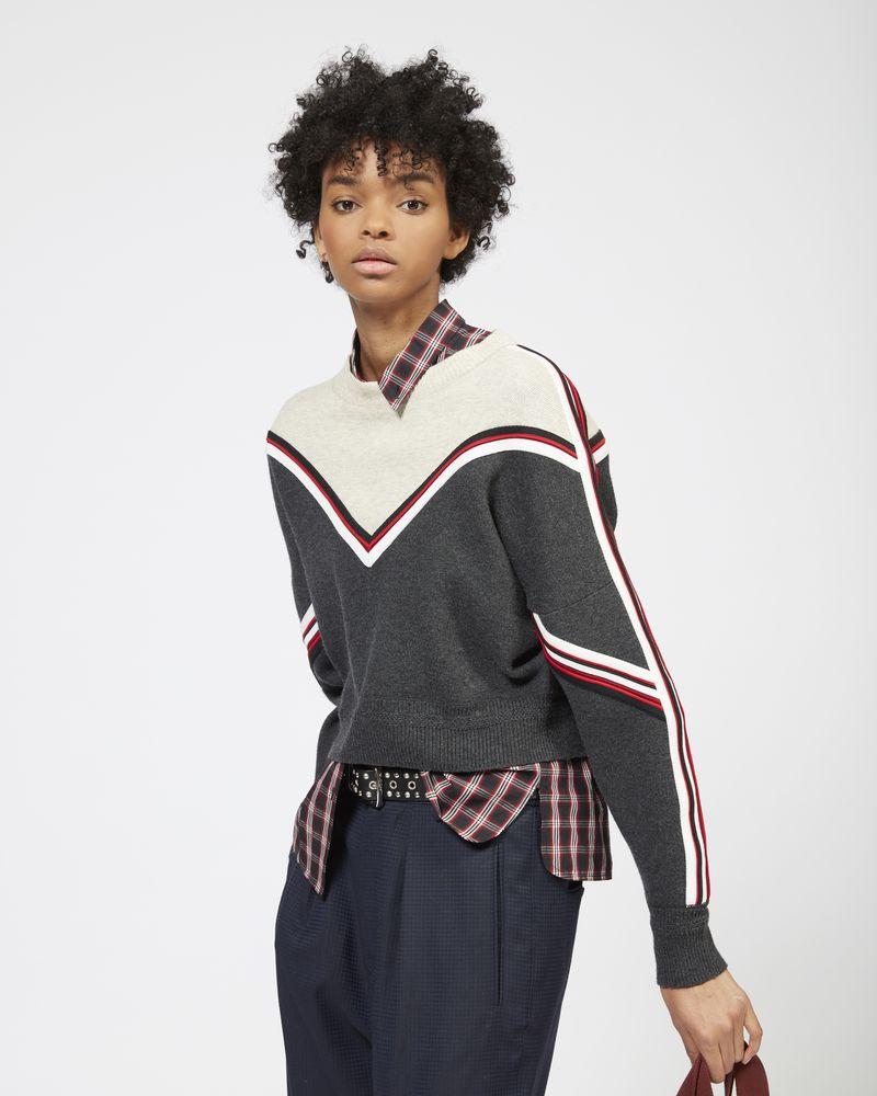 KIMO two colour knit jumper ISABEL MARANT ÉTOILE