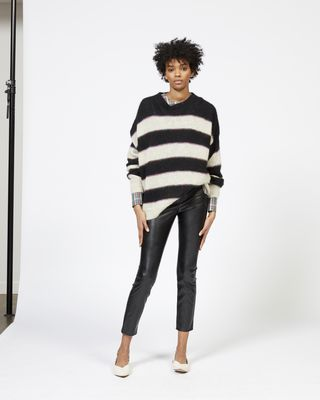 REECE striped mohair jumper