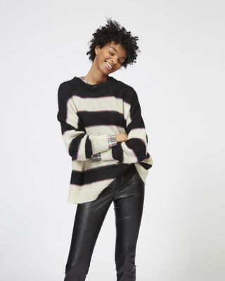 ISABEL MARANT ÉTOILE LONG SLEEVE JUMPER Woman REECE striped mohair jumper  r