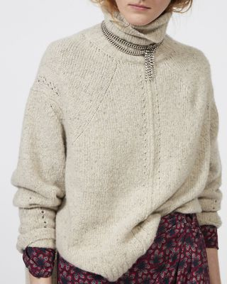 ISABEL MARANT LONG SLEEVE JUMPER Woman HARRIETT roll neck cashmere jumper r