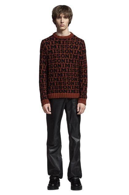 MISSONI Crew-neck Brick red Man - Back