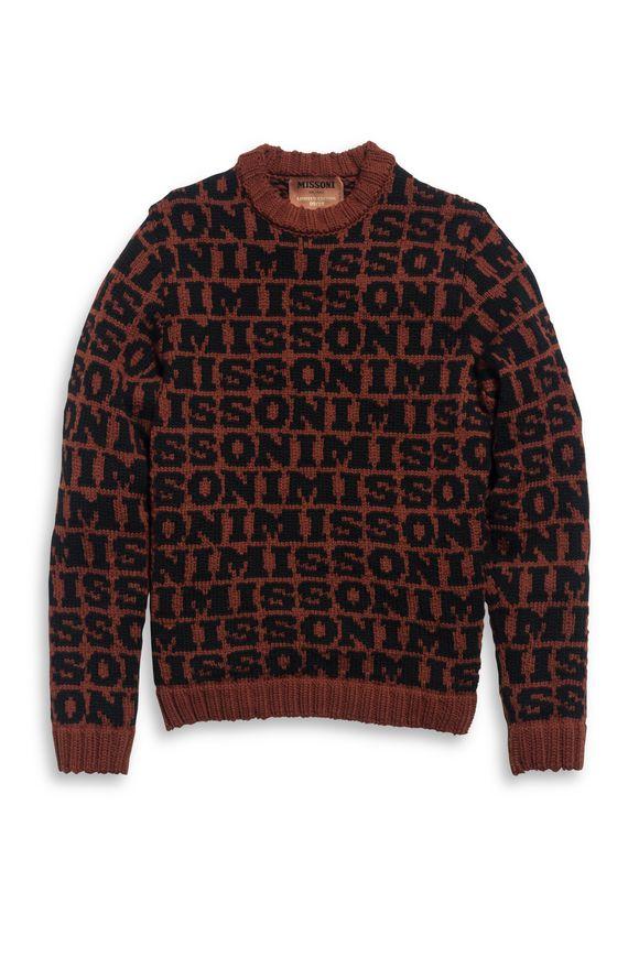 MISSONI Crew-neck Brick red Man