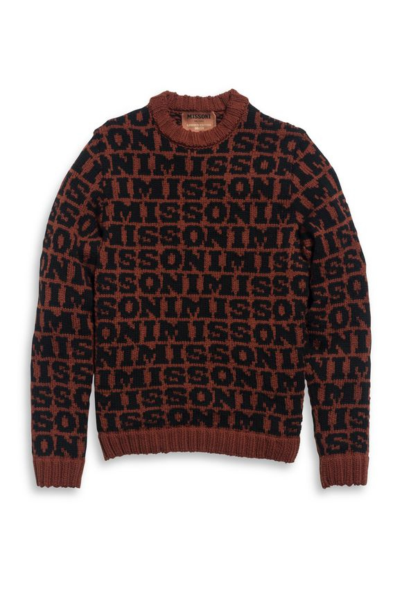MISSONI Crew-neck Brick red Man