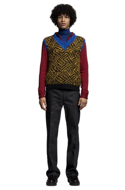 MISSONI V-Neck Ochre Man - Back