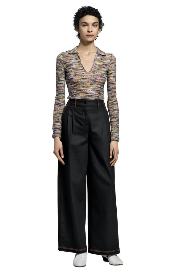 MISSONI Long-sleeved polo shirt Woman, Rear view