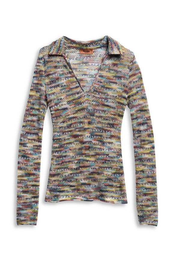 MISSONI Long-sleeved polo shirt Woman, Product view without model