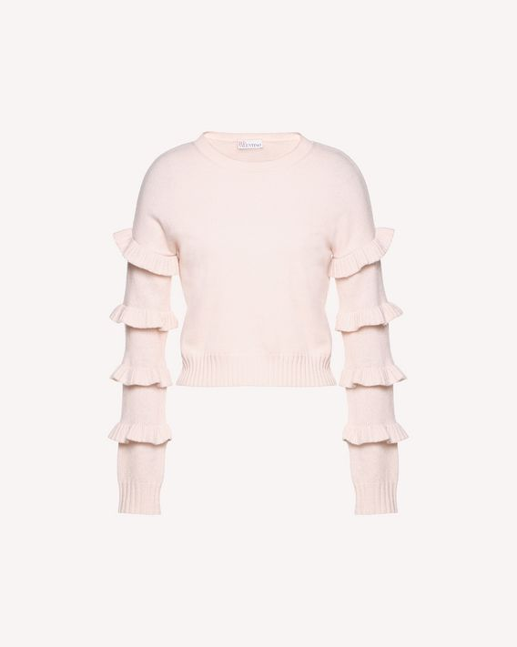 REDValentino Wool sweater with ruffle details