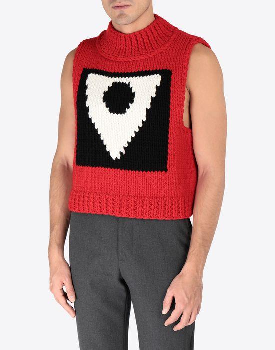 MAISON MARGIELA A/W18-19 Défilé symbol sleeveless pullover Sweatshirt [*** pickupInStoreShippingNotGuaranteed_info ***] r
