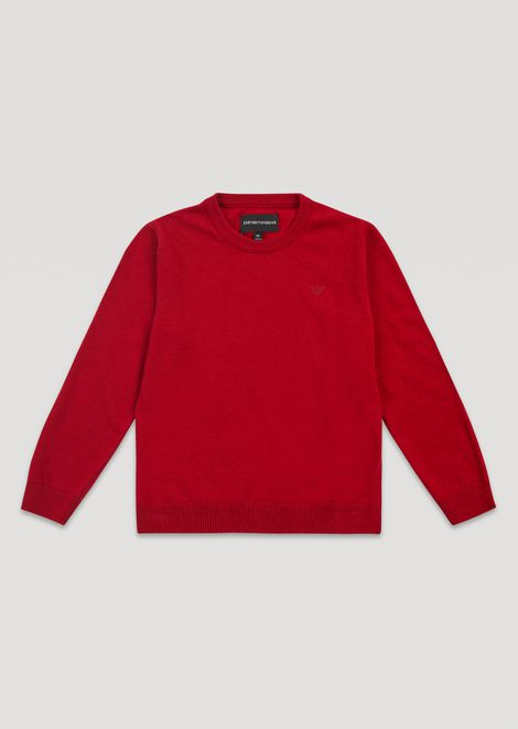Crew-neck sweater in single jersey