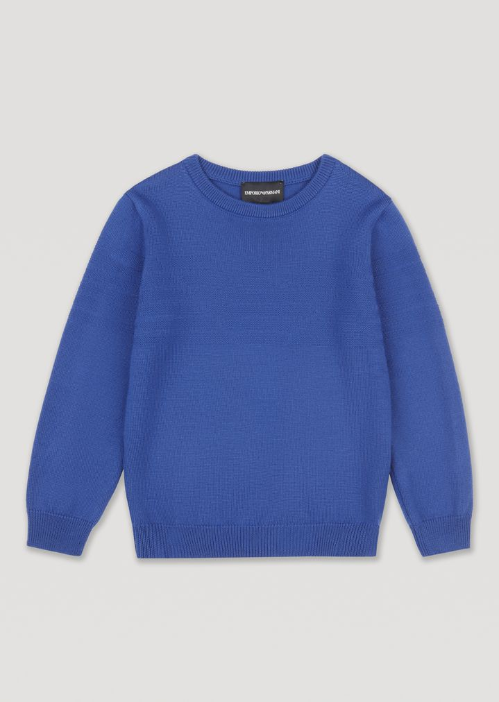 0fd9239b5f Sweater with all-over Emporio Armani logo on the front | Man ...