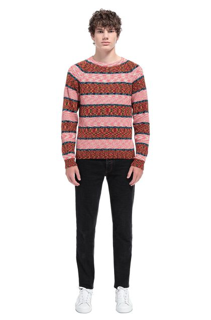 MISSONI Sweater Brick red Man - Front