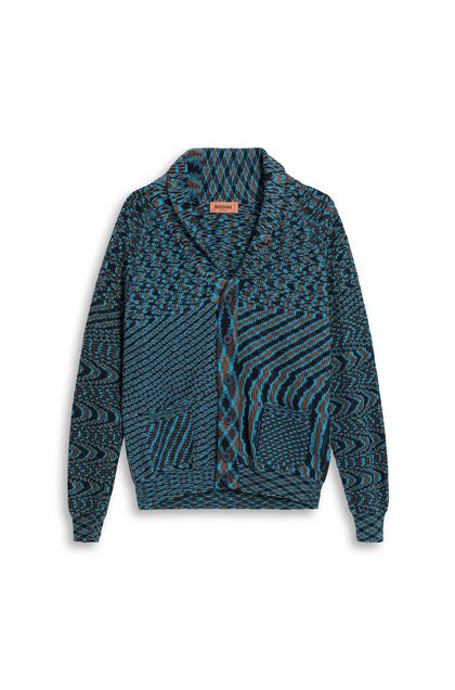 MISSONI Cardigan Azure Man - Back