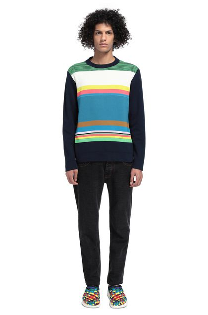 MISSONI Sweater Dark blue Man - Front