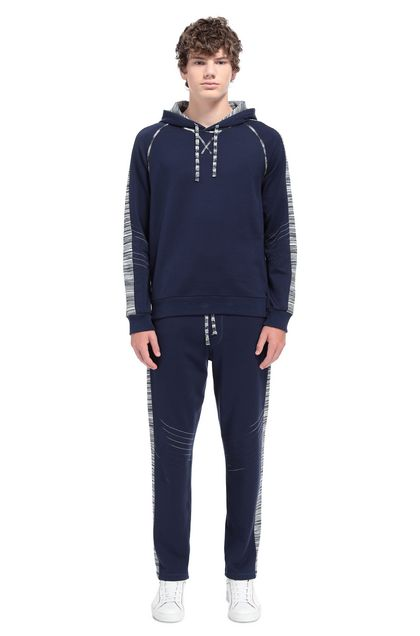 MISSONI Jumper Dark blue Man - Front