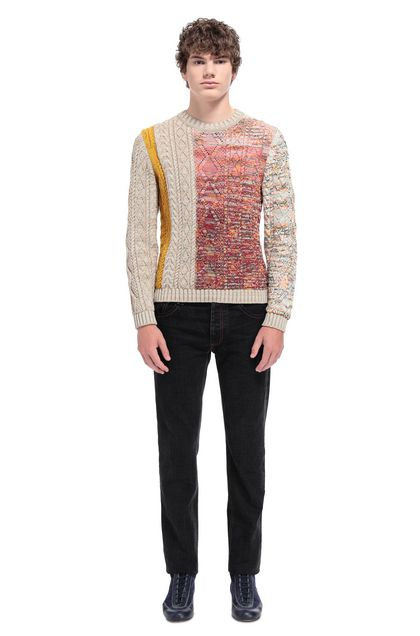 MISSONI Sweater Beige Man - Front