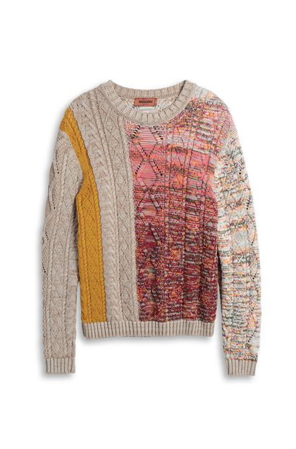 MISSONI Sweater Beige Man - Back
