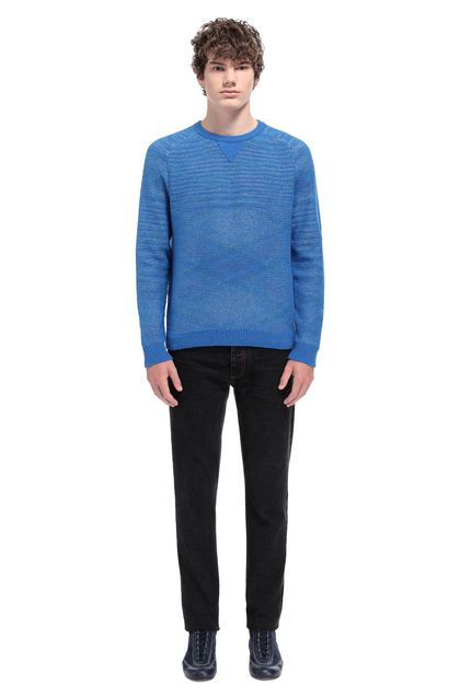MISSONI Jumper Bright blue Man - Front