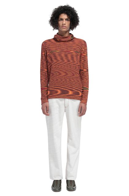 MISSONI Jumper Orange Man - Front