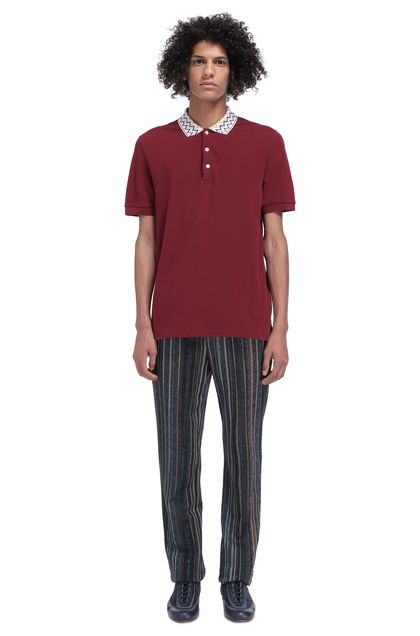 MISSONI Men's polo Maroon Man - Front