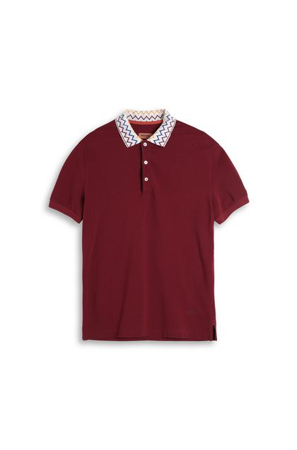MISSONI Men's polo Maroon Man - Back