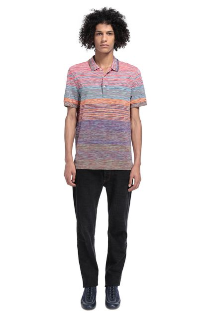 MISSONI Men's polo Fuchsia Man - Front