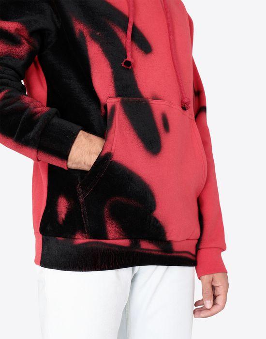 MAISON MARGIELA Paintbrush print hooded sweatshirt Sweatshirt [*** pickupInStoreShippingNotGuaranteed_info ***] a