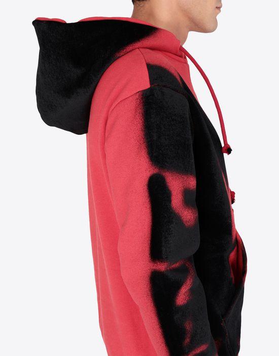 MAISON MARGIELA Paintbrush print hooded sweatshirt Sweatshirt [*** pickupInStoreShippingNotGuaranteed_info ***] b