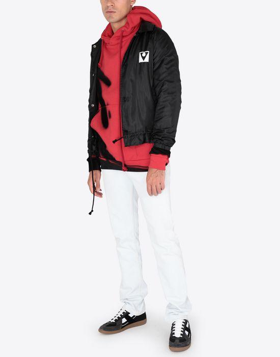 MAISON MARGIELA Paintbrush print hooded sweatshirt Sweatshirt [*** pickupInStoreShippingNotGuaranteed_info ***] d