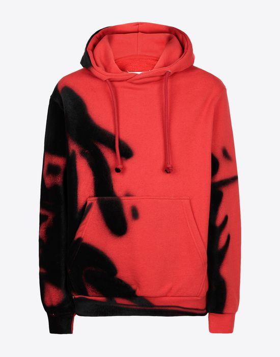MAISON MARGIELA Paintbrush print hooded sweatshirt Sweatshirt [*** pickupInStoreShippingNotGuaranteed_info ***] f