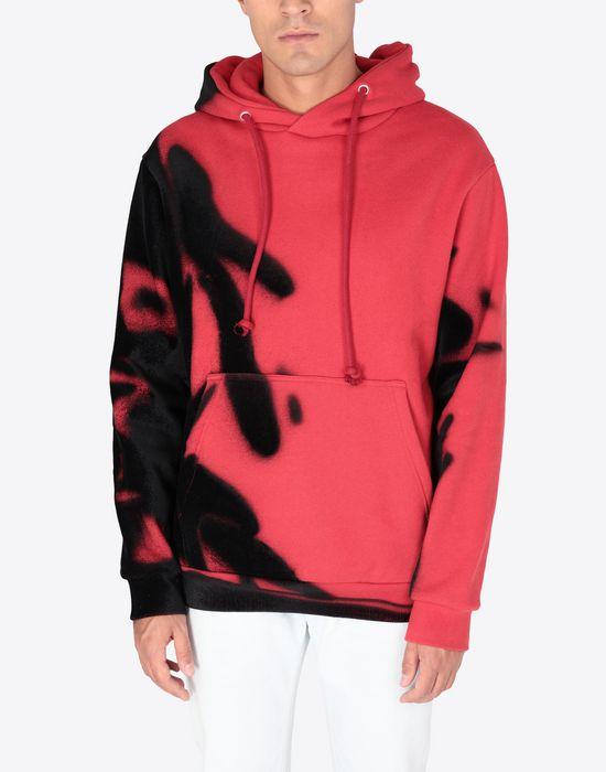 MAISON MARGIELA Paintbrush print hooded sweatshirt Sweatshirt [*** pickupInStoreShippingNotGuaranteed_info ***] r