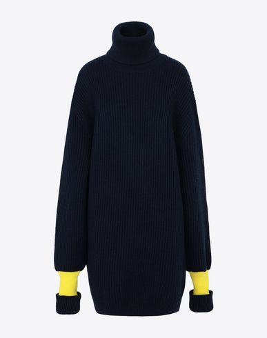 MAISON MARGIELA Long sleeve sweater [*** pickupInStoreShipping_info ***] Two-tone wool-blend knitted jumper f