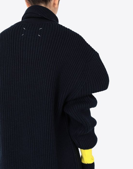 MAISON MARGIELA Two-tone wool-blend knitted jumper Long sleeve sweater [*** pickupInStoreShipping_info ***] a