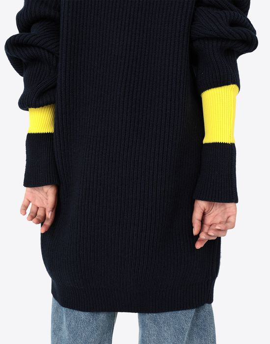 MAISON MARGIELA Two-tone wool-blend knitted jumper Long sleeve sweater [*** pickupInStoreShipping_info ***] b