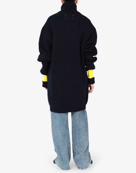 MAISON MARGIELA Two-tone wool-blend knitted jumper Long sleeve sweater [*** pickupInStoreShipping_info ***] e