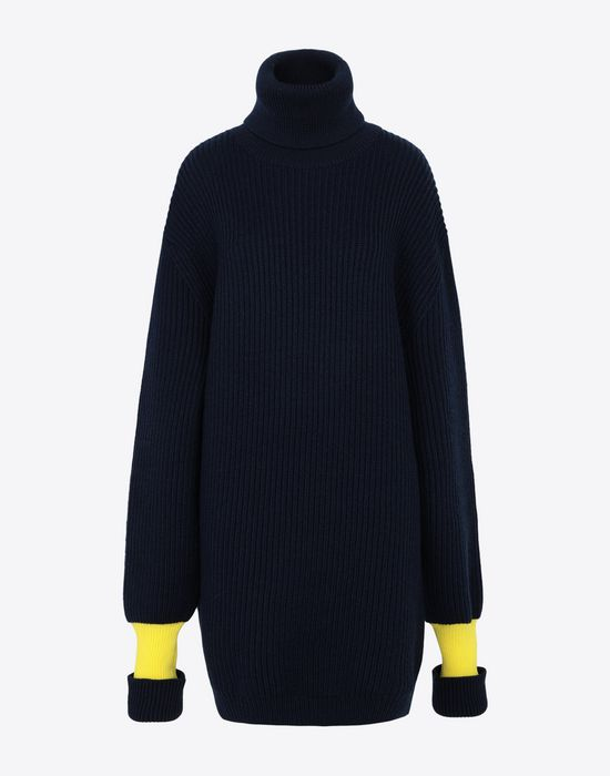 MAISON MARGIELA Two-tone wool-blend knitted jumper Long sleeve sweater [*** pickupInStoreShipping_info ***] f