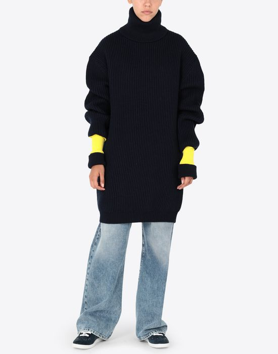MAISON MARGIELA Two-tone wool-blend knitted jumper Long sleeve sweater [*** pickupInStoreShipping_info ***] r