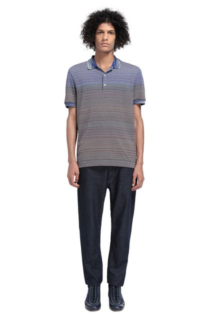 MISSONI Men's polo Blue Man - Front